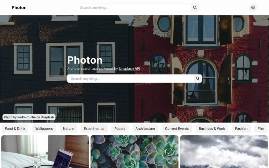Photon home page