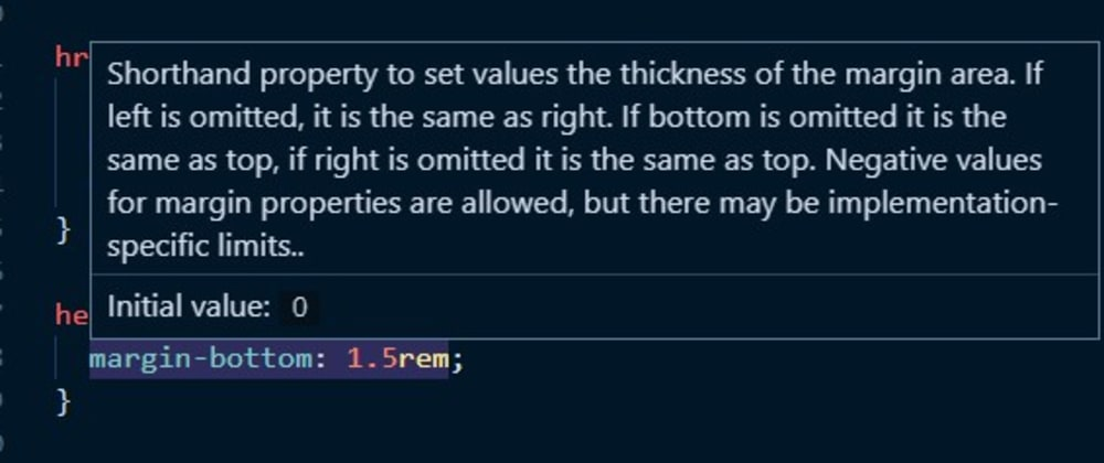 Cover image for VS Code extension that shows the initial value of a CSS property