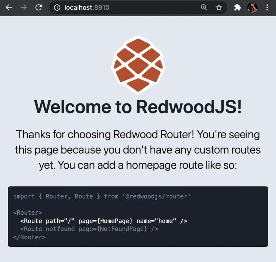 the default Redwood site