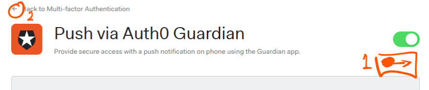 Turn on Auth0 Guardian