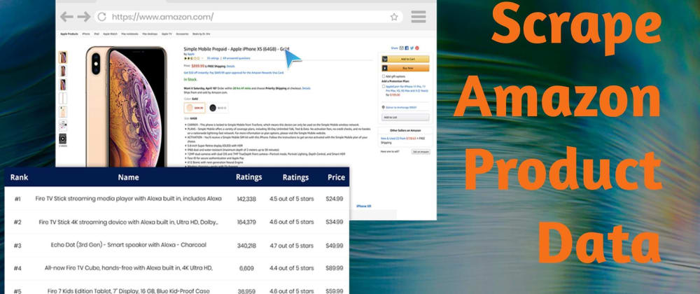 Cover image for Scrape Amazon Product Data for Free