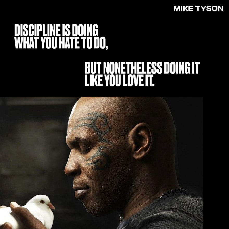 Mike Tyson quote on discipline