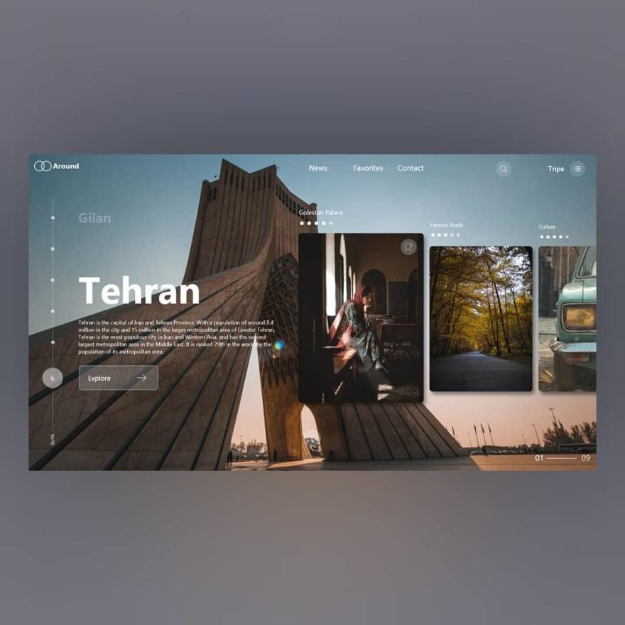 tehran travel concept