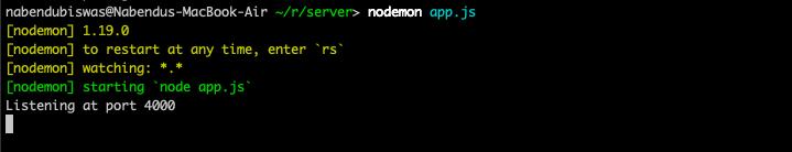 nodemon app.js