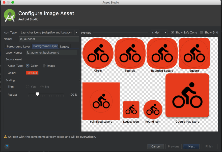 How to create adaptive icons for Android using Android Studio - DEV