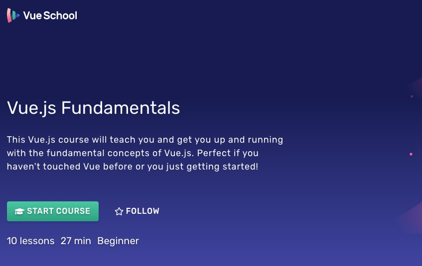 Vue.js Fundamentals by VueSchool