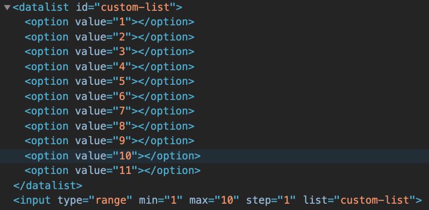 regular input range