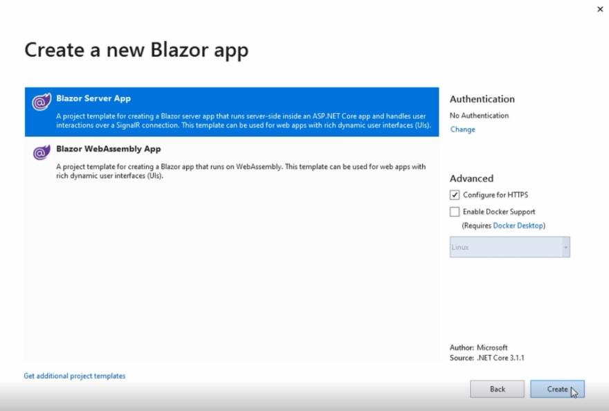 Create a new Blazor app