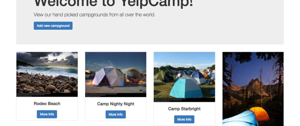 Cover image for Is Yelp Camp is the greatest web development project of all time? (Colt Steele bootcamp)