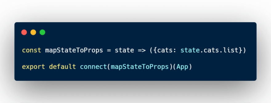 mapStateToprops variable inside Redux connect