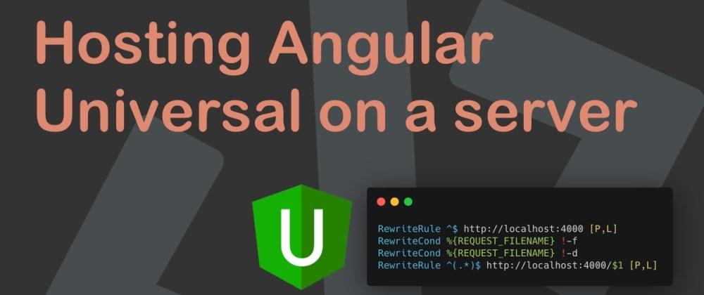 Cover image for Hosting Angular Universal on a server