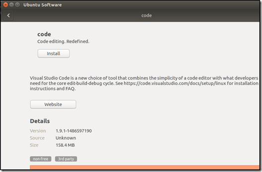 Ubuntu Install Application