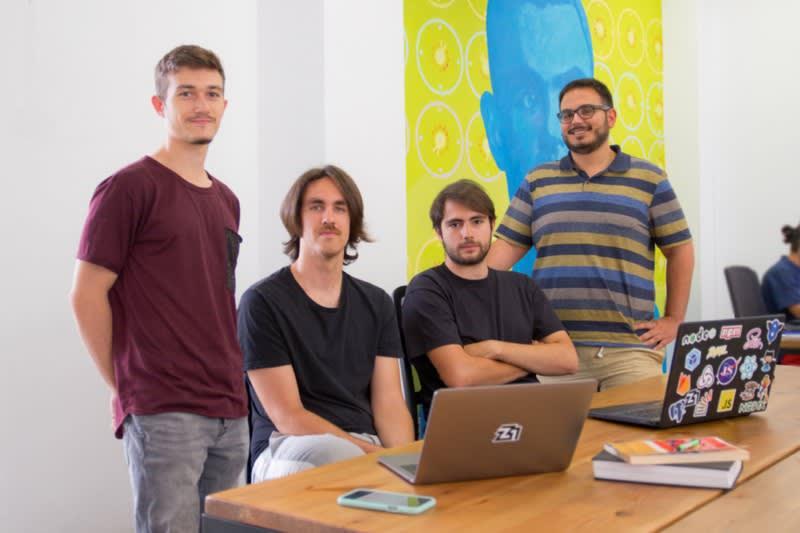 Luis Adame, Chus Vázquez, myself and Candi Baquero