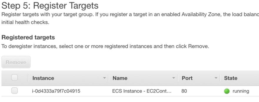 Registered Instances