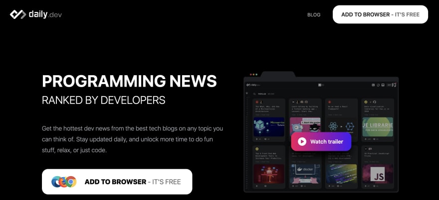 daily.dev website