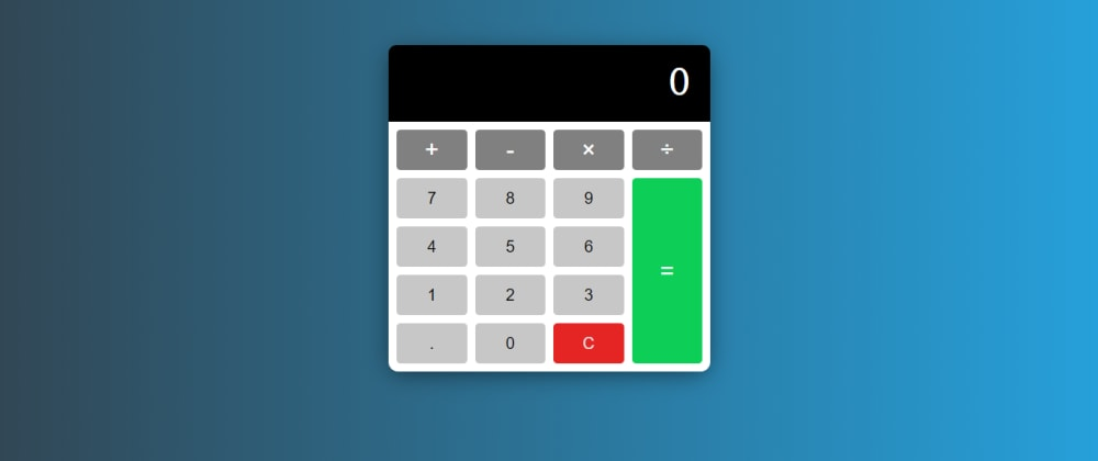 Cover image for Make a calculator with pure HTML5 CSS3 and JavaScript!