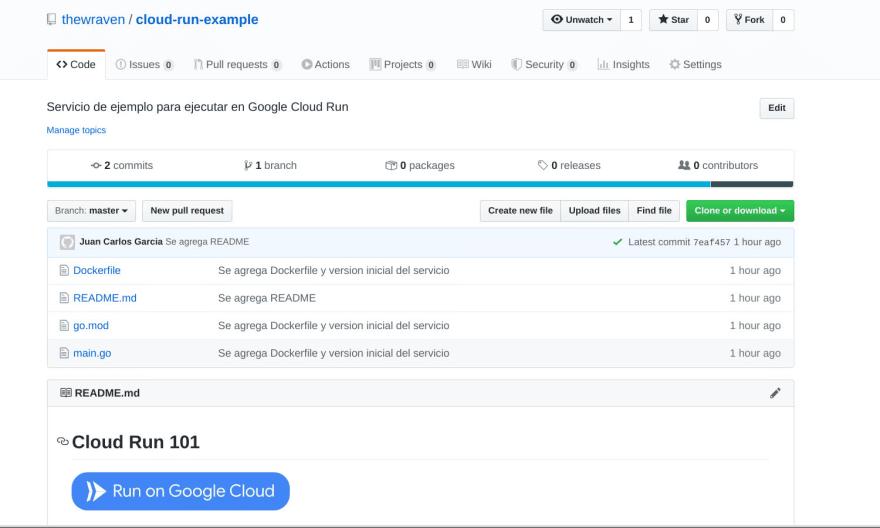 Usaremos Run on Google Cloud para desplegar el servicio de manera más sencilla