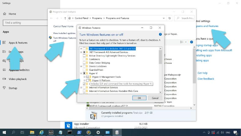 Installing Hyper-V Manager to a Windows 10 computer