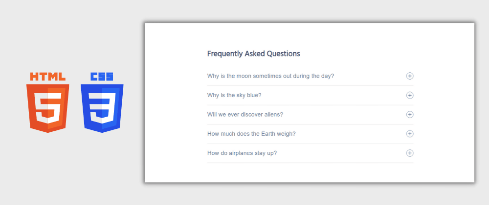 Cover image for Day 7/30 : FAQ Accordion Section using HTML and CSS