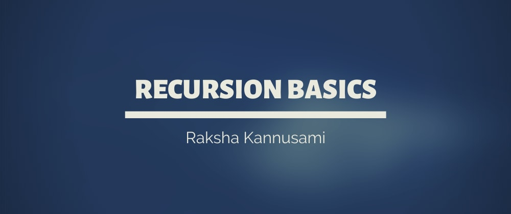 Cover image for Java: Recursion Basics. 🔁