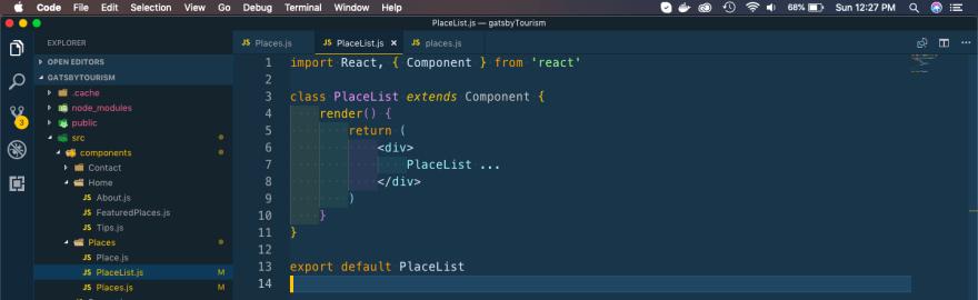 PlaceList