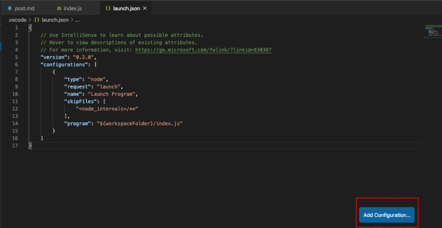 launch.json file