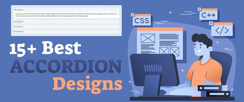 Cover Image for 15 Best CSS Accordion Designs You've Never 👀 Seen Before