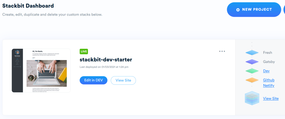Cover image for Using DEV as CMS by connecting with Stackbit