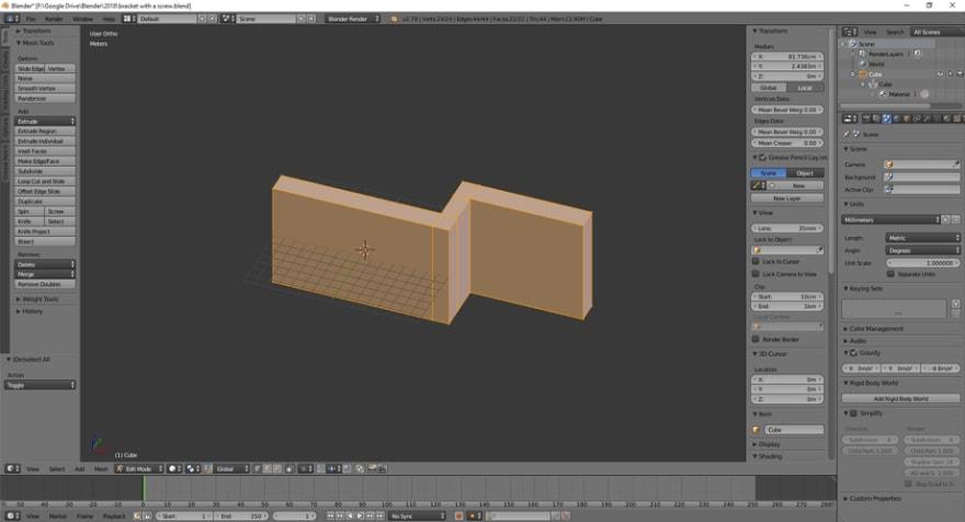 3D model in Blender