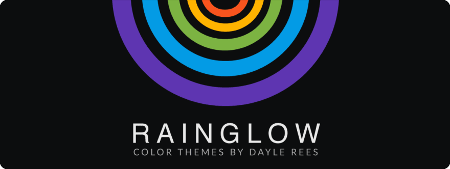The logo for Rainglow, a collection of VS Code Themes