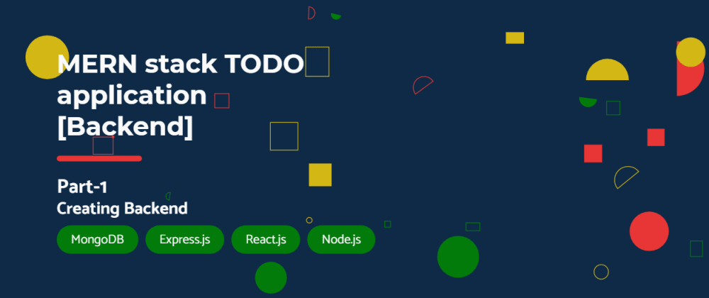 Cover image for MERN stack TODO application [Backend]