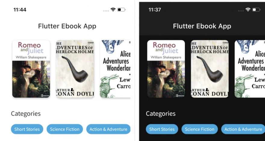 Flutter eBook App
