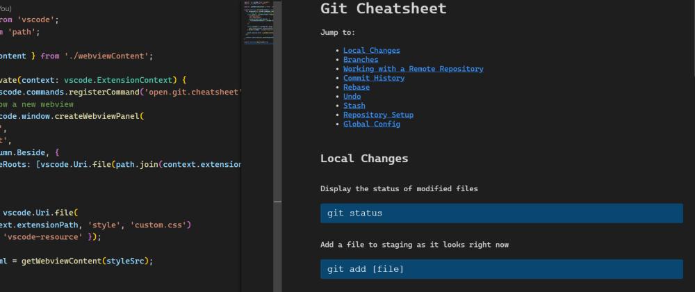 Cover image for Git cheatsheet inside VS Code