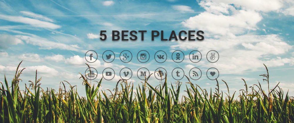 Cover image for 📱 5 Best Places to find free SVG/CSS icons for your websites 🪐