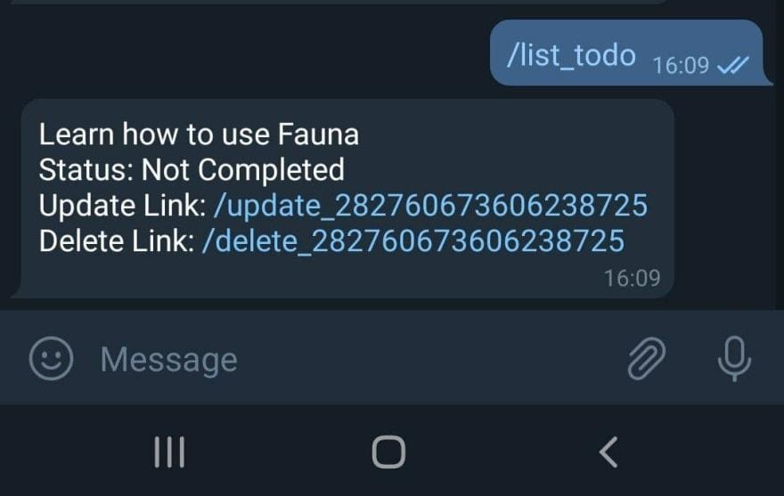 added delete task