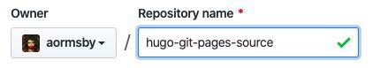 name the new github repo