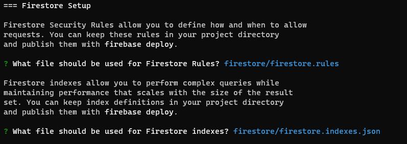 Firebase Firestore Setup