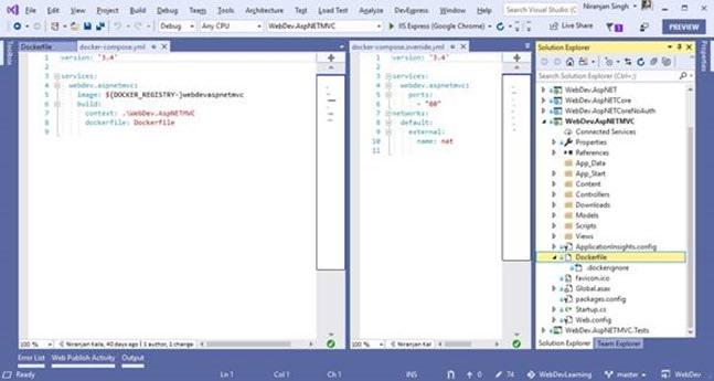 Docker file to build image