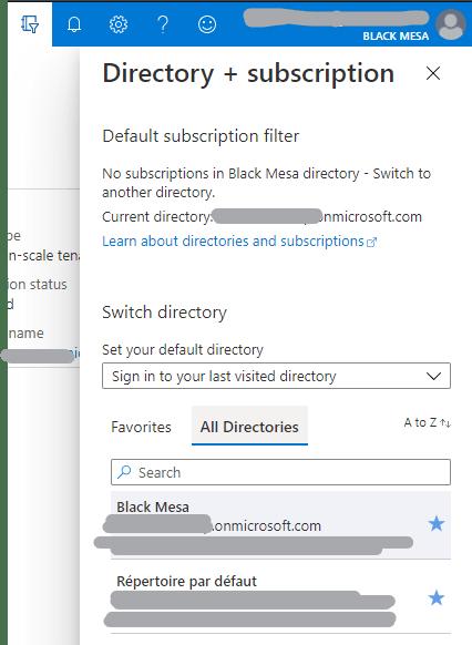 Buton de sélection des directories