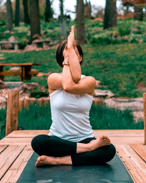 Half Lotus Seated Meditation Position