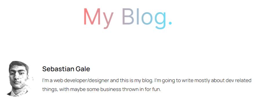 My blog's main header