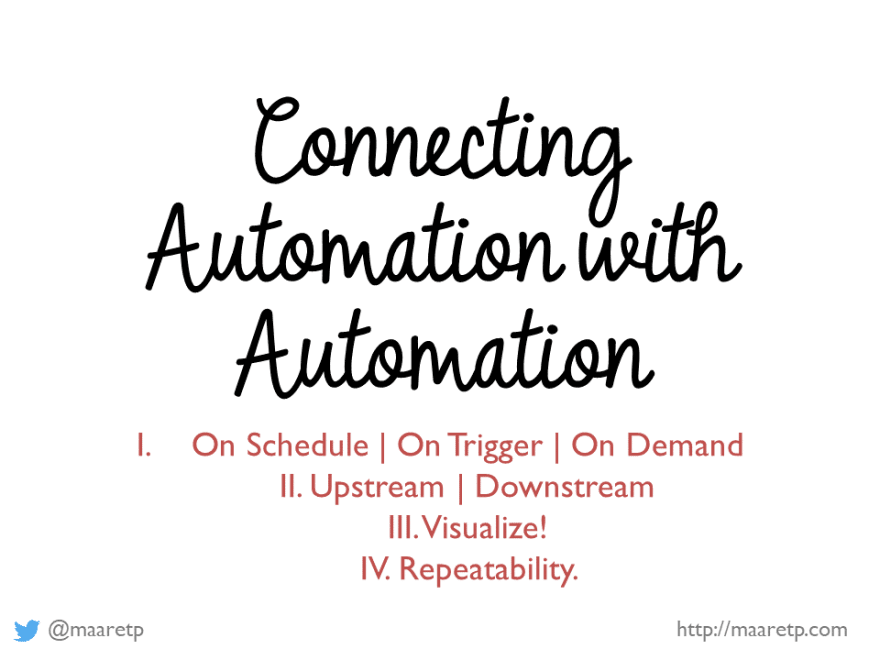 Connecting automation with automation