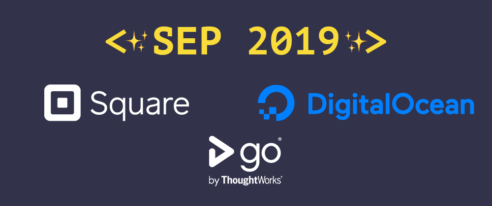 Cover image for Introducing our September 2019 sponsors