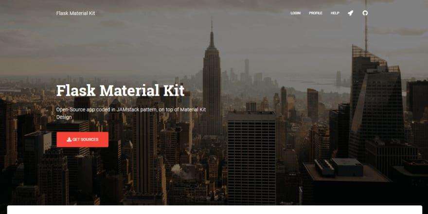 Flask Material Kit - Open-Source Web App.