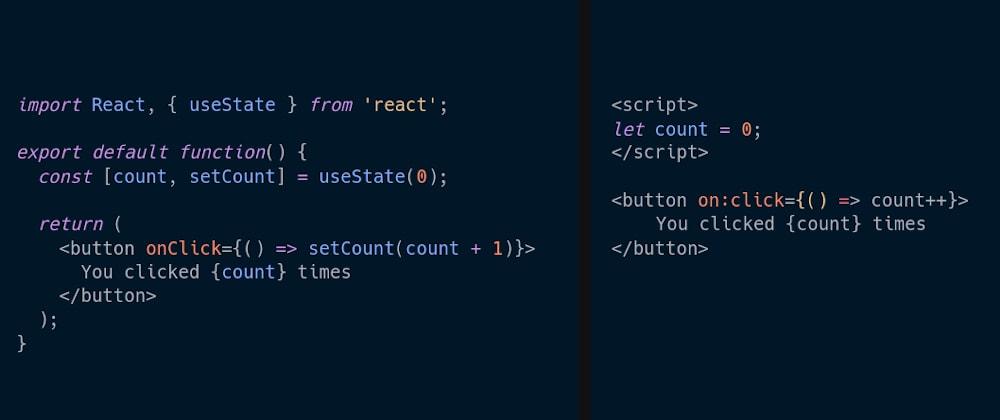 Cover image for React Hooks vs. Svelte