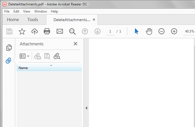 Delete attachments from pdf