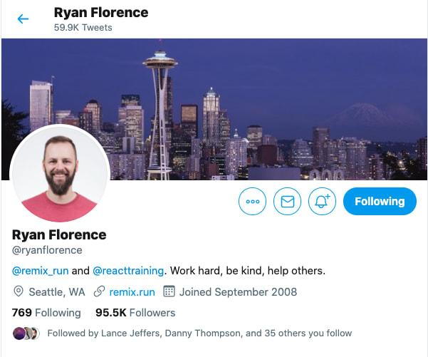 Ryan Florence Twitter