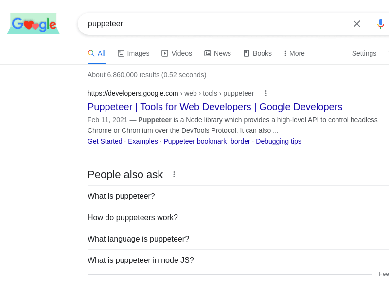 Simple search result