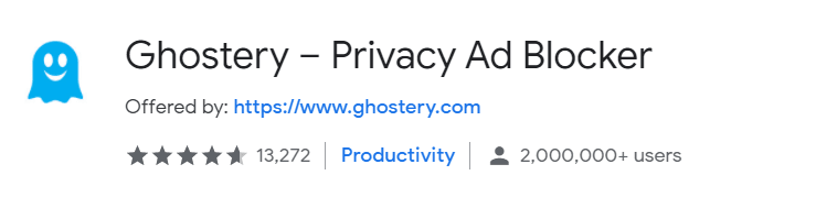 Ghostery Extension Logo