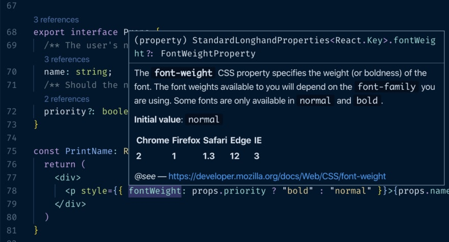 An example of TypeScript's usefulness as a developer productivity tool.